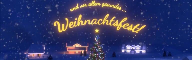 Wir wünschen ein frohes Weihnachtsfest und einen guten Rutsch in ein erfolgreiches Jahr 2021